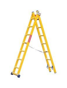 Kunststof ladder GVK 2x8 treden I 4.50 meter