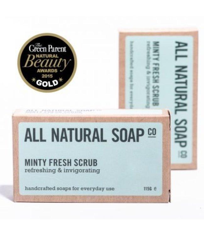 All Natural Soap Minty fresh scrub Soap - 115 gram
