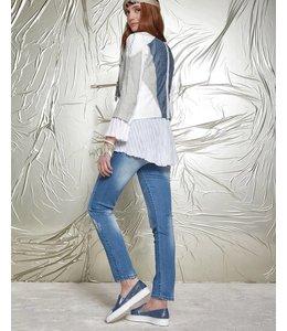 Elisa Cavaletti Chaussures plates bleu-argenté