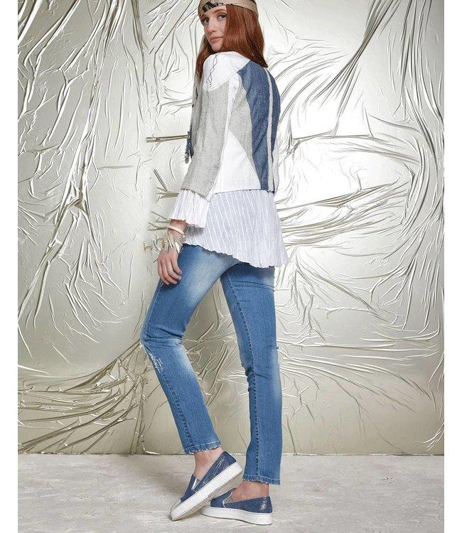 Elisa Cavaletti Flat shoes denimblue-silver
