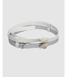 Elisa Cavaletti Belt white-silver
