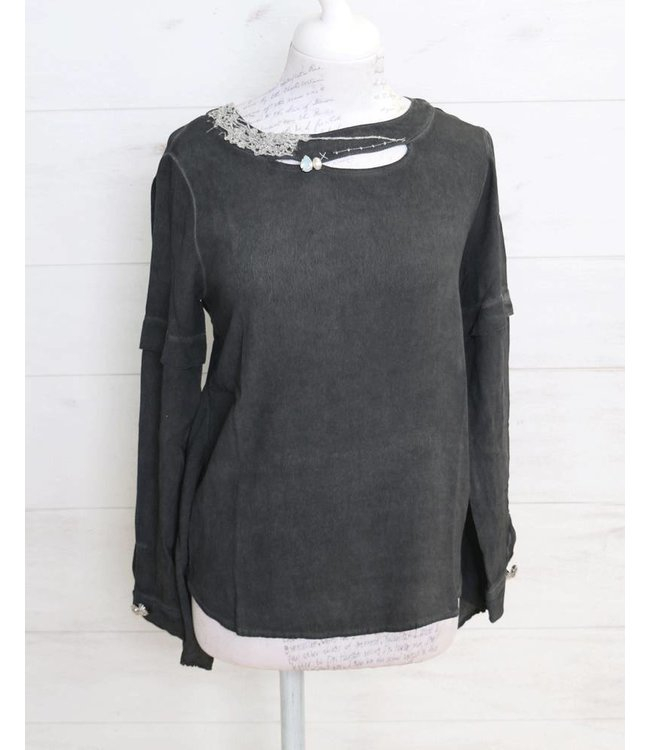 Elisa Cavaletti Shirt blouse faded black