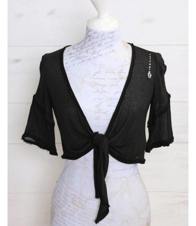 Elisa Cavaletti Bolero jacket black