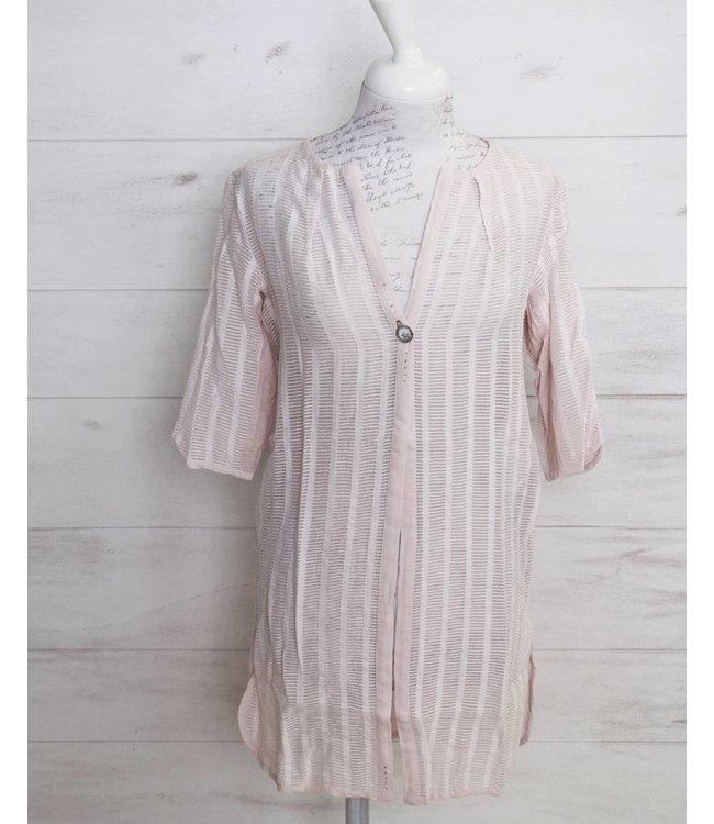Elisa Cavaletti Blouse jacket dusky-pink