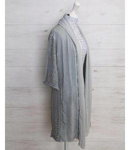 Elisa Cavaletti Long basic jacket light grey