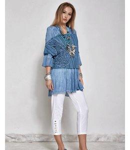Elisa Cavaletti Bluse jeansblau verwaschen
