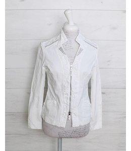 Elisa Cavaletti Short denim jacket white