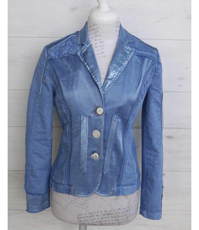 Elisa Cavaletti Short denim jacket blue