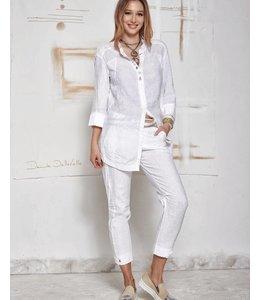 Elisa Cavaletti Linen blouse white