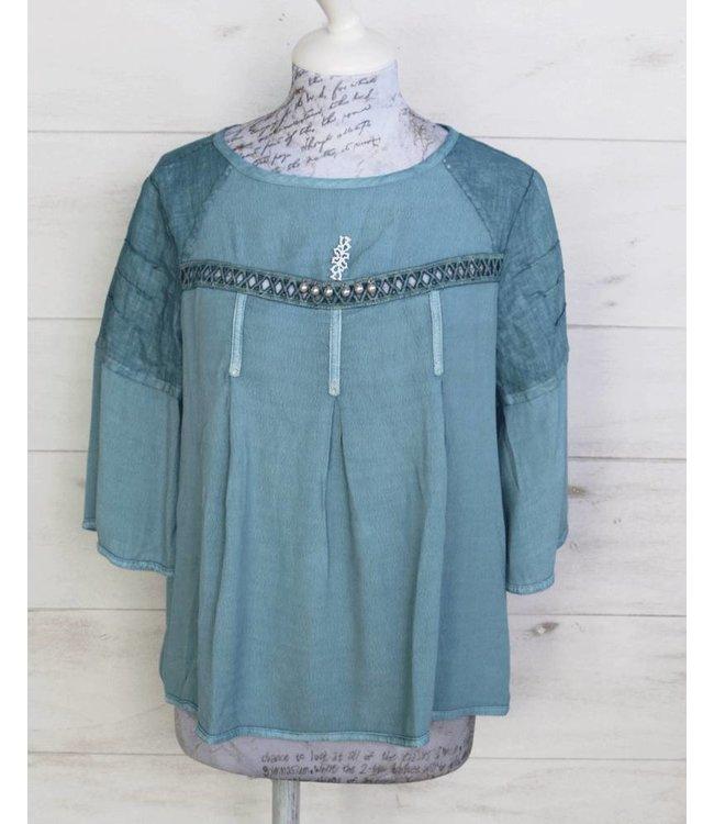 Elisa Cavaletti Shirt blouse denim blue