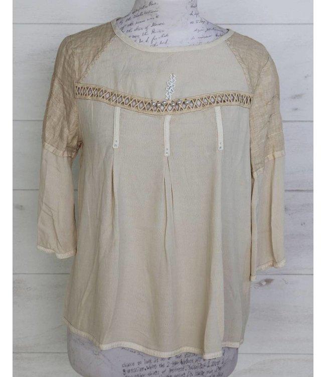 Elisa Cavaletti Shirt blouse beige