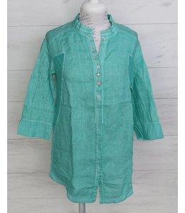 Elisa Cavaletti Linen blouse turquoise