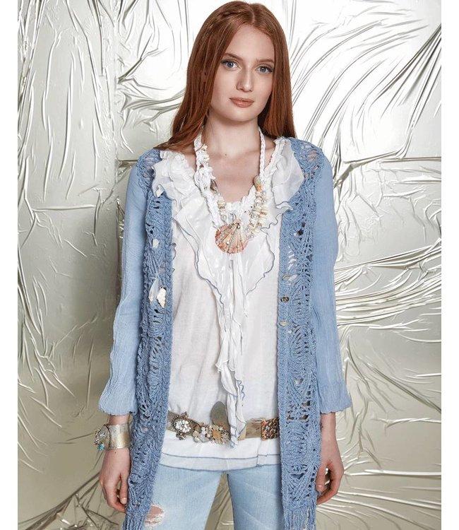 Elisa Cavaletti Romantic cardigan light blue