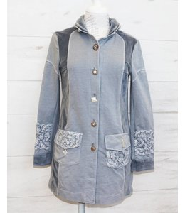 ArtePura Long jacket grey-blue