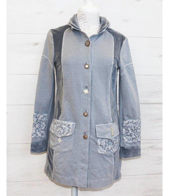 ArtePura Long jacket grey-blue