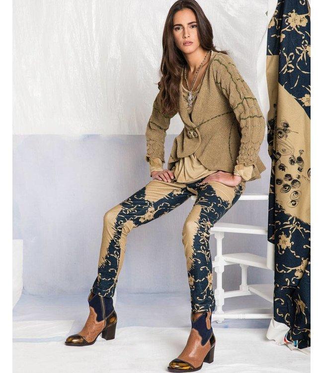 Elisa Cavaletti Short jacket green and brown