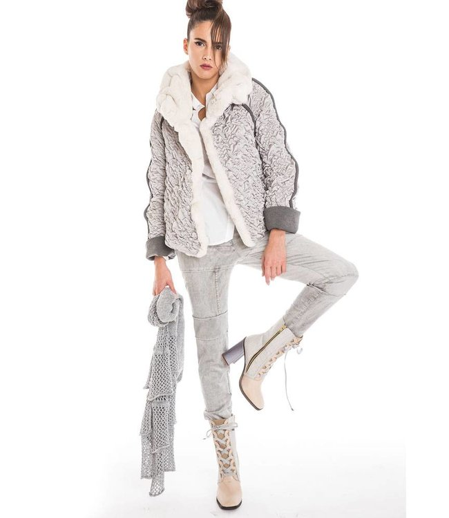 Elisa Cavaletti Winter jacket silver and grey