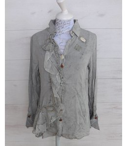Elisa Cavaletti Romantic blouse faded silver grey