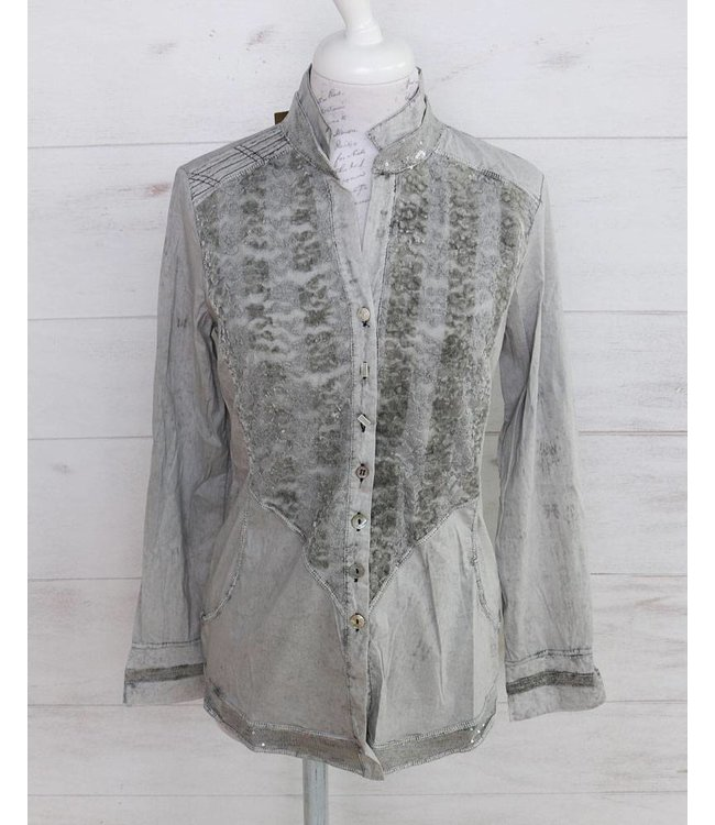 Elisa Cavaletti Blouse faded silver grey