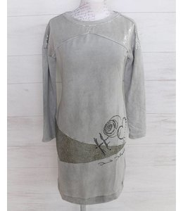 Elisa Cavaletti Robe gris clair