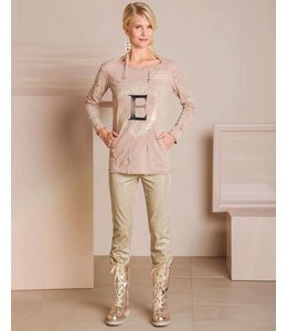 Elisa Cavaletti T-Shirt rose délavé