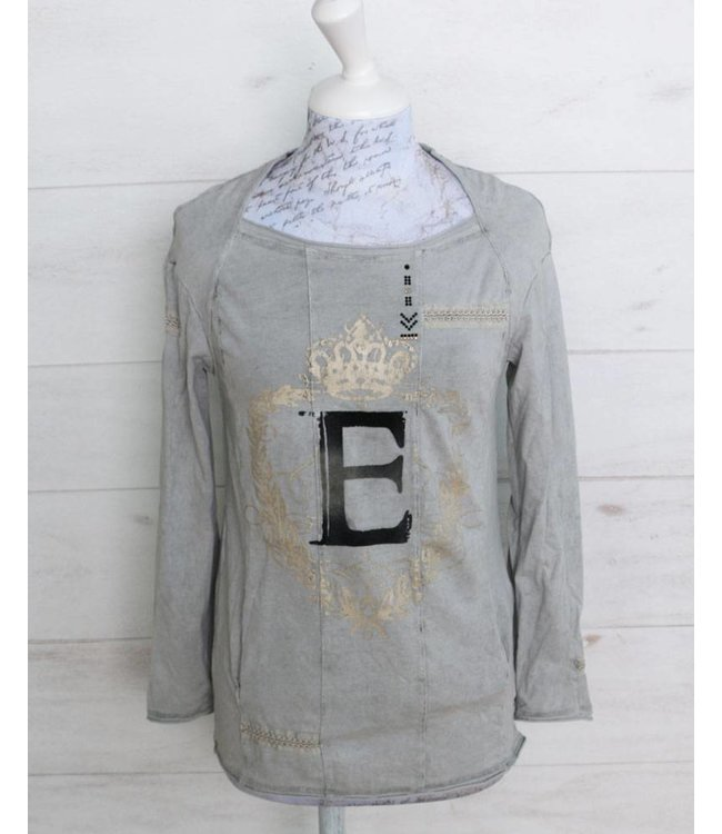 Elisa Cavaletti T-shirt faded silver grey