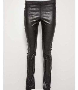 Elisa Cavaletti Black leather look leggings
