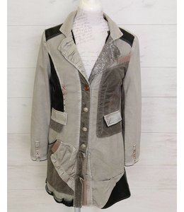 Elisa Cavaletti Long jacket silver grey
