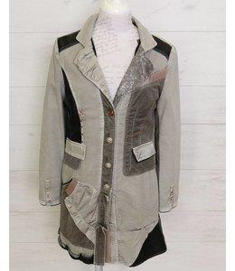 Elisa Cavaletti Long jacket silver grey