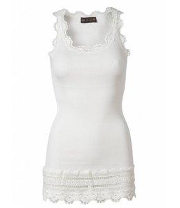 Rosemunde Basic stretch top pearl white
