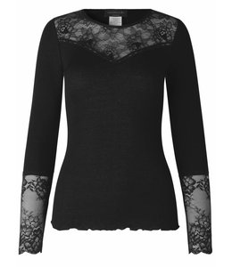 Rosemunde Long-sleeved shirt black