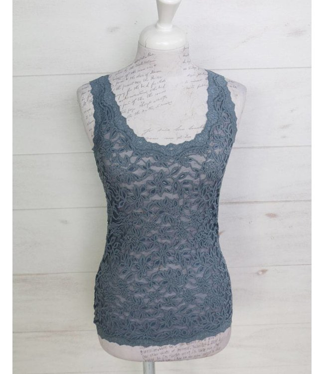 Rosemunde Lace top blue-grey