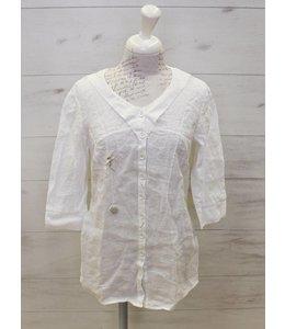 Elisa Cavaletti Long blouse white