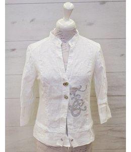 Elisa Cavaletti Linen blazer white