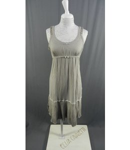 Elisa Cavaletti Langes aermelloses Kleid in verwaschenem grau