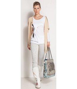 Elisa Cavaletti Langarm-Shirt weiss