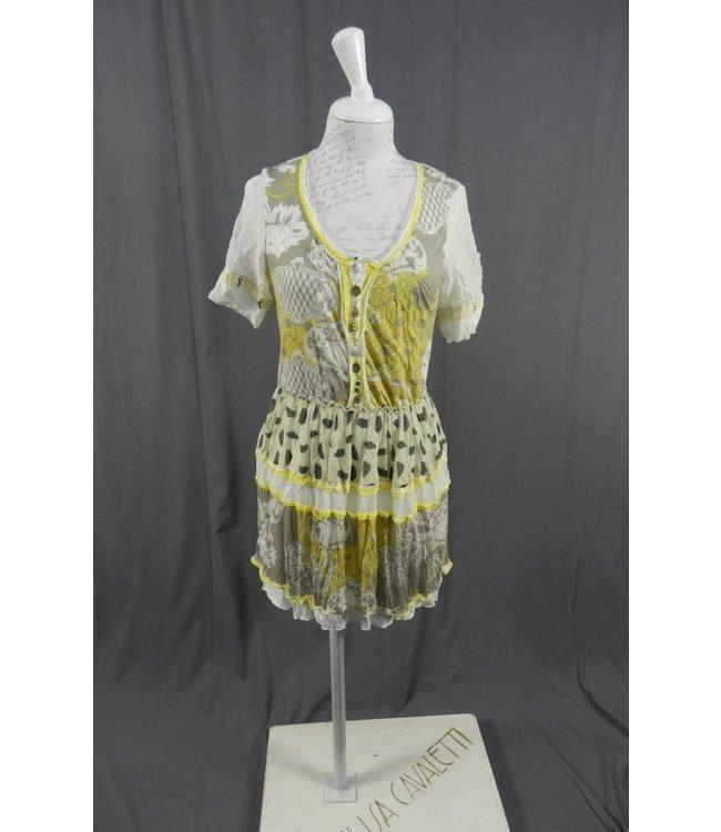 Elisa Cavaletti Kurzarm Kleid im Printdesign