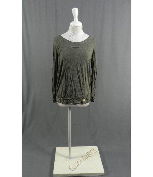 Elisa Cavaletti Basic-Shirt dunkelgrau