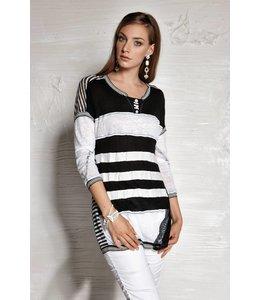 Elisa Cavaletti pull noir et blanc