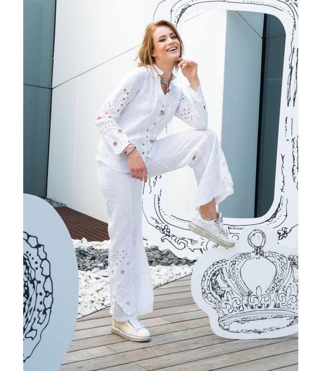 Elisa Cavaletti Chemisier en lin Bianco