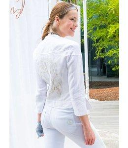 Elisa Cavaletti Cropped jacket Bianco