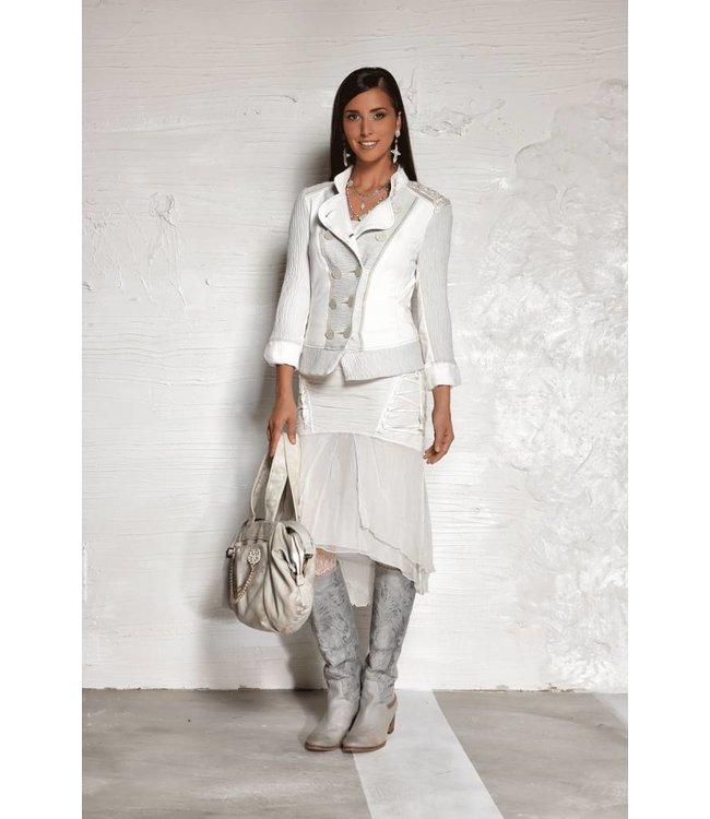 Elisa Cavaletti jupe blanc cassé