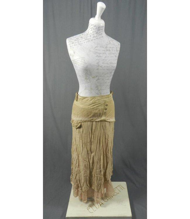 Elisa Cavaletti Longue jupe vieux rose-brun délavé