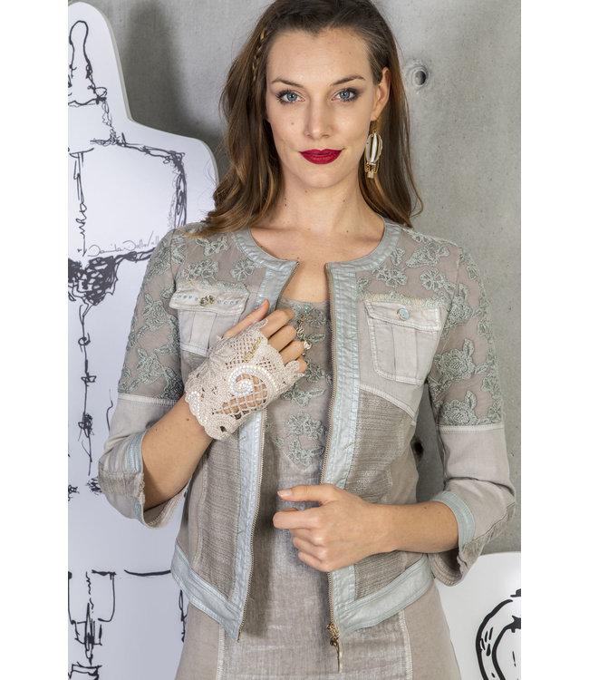 Elisa Cavaletti Cropped jacket Terra Acqua