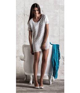 Elly Italia robe tunique blanche