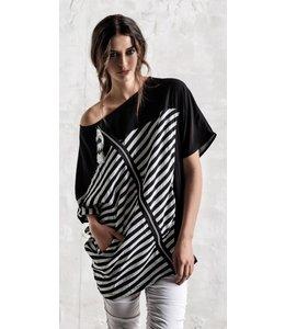 Elly Italia Shirt schwarz-weiss gestreift