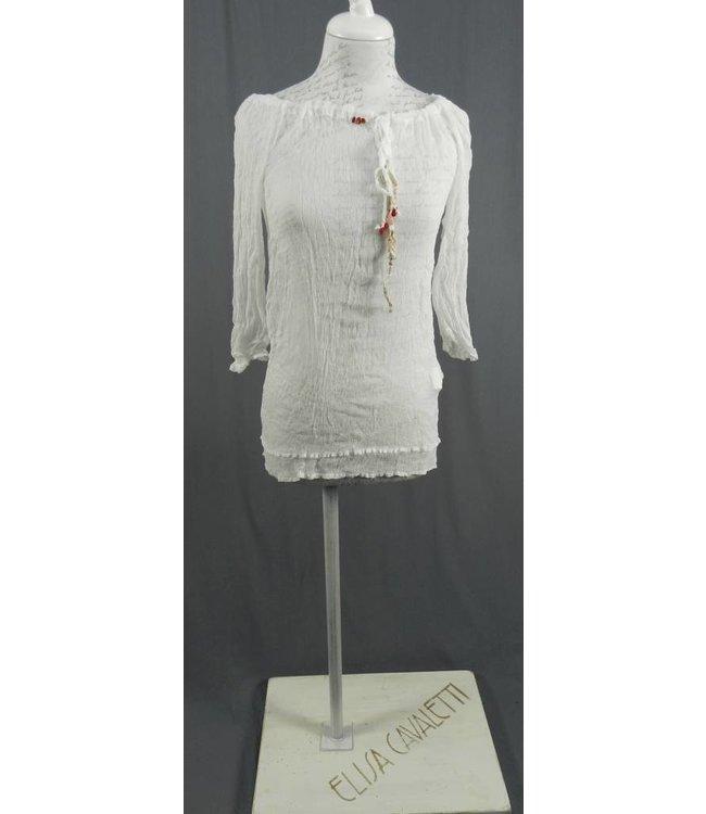 Elisa Cavaletti chemisier blanc en soie