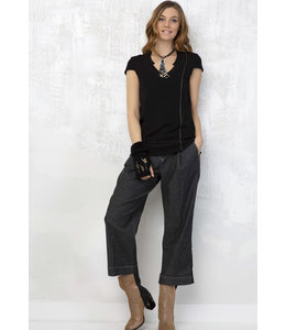 Elisa Cavaletti Basic-Top Nero