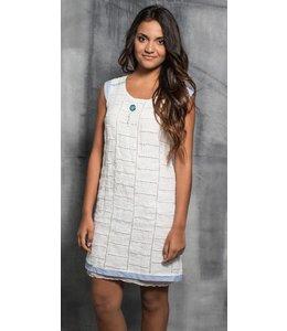 Elly Italia Aermelloses Kleid weiss