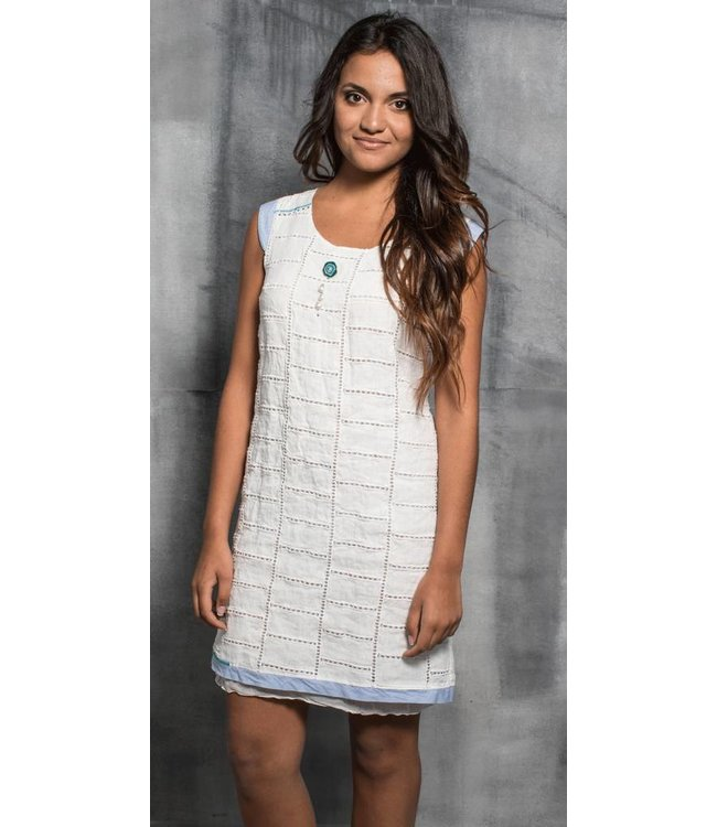 Elly Italia robe sans manches blanche